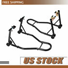 SPORT BIKE MOTORCYCLE WHEEL LIFT STAND FRONT REAR SWINGARM SPOOL COMBO Set High