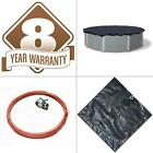 8 Year 18 ft Round Navy Blue Above Ground Winter Pool Cover FREE SHIPPING