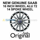 NEW GENUINE SAAB 9 3 16 RIM INCH WHEEL 14 SPOKE ALU 72 12770236