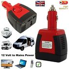 Camper Inverter Car USB Adapter DC 12V to 230V Laptop Mobile Charger Converter