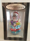 Rare Christopher Radko 2014 glass Santa Mouse ornament