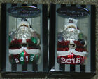 Christopher Radko Celebrations 2 Roly Poly Santa Claus Ornaments 2015 2016 NIB
