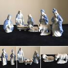 Vintage Colonial Candle Porcelain Full 8 Piece Nativity Set Made in Japan