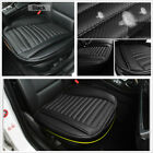 1 Pcs Black PU Leather Auto Car Front Seat Cover Breathable w Bottom Storage Bag