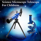 Science Telescope Microscope Set Nature Astronomy Kids Educational Toys Gift Kit