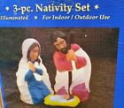 General Foam Christmas NATIVITY BLOW MOLD SET Mary Joseph Baby Jesus In Box