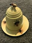 Vintage Bumble Bee Honey Pot with Plate Used Good Condition Bumble Bee