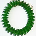 Old Bohemian Vaseline Green Glass Trade Beads African Trade