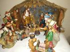 Large Hand Painted Nativity Set with 26 Crche