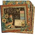 Graphic 45 French Country 12x12 Double Sided Cardstock Paper 12 Sheet Set