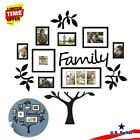US Family Tree Photo Frame Picture Collage Sticker Wall Mount Home Party Decor