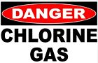 Danger Chlorine Gas Sign Size Options Safety Dangerous Gases Chemicals