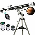 Space Telescope for Adult Kid Stargazing Moon Lunar Astronomy Best Refractor Big