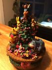 Disney Store Winnie The Pooh And Friends Music Box Christmas Tree Figurine