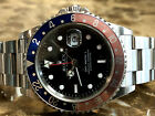 Rolex GMT Master 2 Pepsi 16710 Red Blue Error Dial 40mm Automatic never refinish