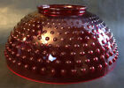 NEW 14 Ruby Hobnail Dome Lamp Shade For Hanging Library  Table Lamp USA Made