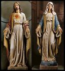 CATHOLIC CHURCH STATUES SACRED HEART and OUR LADY of GRACE from ITALY DM font