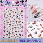 Dandelion Flower 3D Nail Stickers Nail Art Adhesive Transfer Sticker Decals Tips
