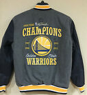 Golden State WARRIORS 2015 NBA Championship 4 Time Wool Reversible Jacket Gray