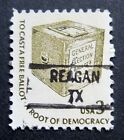 Sc # 1584 ~ 3 cent Americana Issue, Precancel, REAGAN TX (al18)
