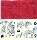 unmounted rubber stamps BEARS WOLVES COYOTES 8 images