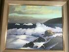 Large Isabel McCherry Seascape Scene Oil Painting Signed And Framed
