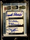 2005 Fleer Clippings Brooks Frank Robinson Palmer TRIPLE Autograph Signature Cut