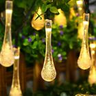 Water Drop Shape Solar Power Fairy String Light Party Christmas Decoration