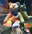 TY BEANIE BABY PEACE BEAR Tie Dyed 1996 Plush Babies No Hang Tag 4053