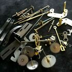 X36b Lot of Vintage Clock GEARS & Parts for Replacements Repairs Steampunk