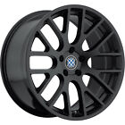 17x8 Black Beyern Spartan Wheels 5x120 +15 BMW 5 SERIES 525 528 530 540