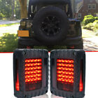 Fits 07 17 Jeep Wrangler JK LED Tail Lights Brake Turn Signal Smoke Rear Lamps