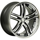 20x10 Machined Black Concept One RS 55 Wheels 5x45 +35 LEXUS IS F SC 430