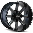 22x12 Black Cali Offroad Busted Wheels 6x135 6x55 44 Lifted GMC CENSOR K 1500