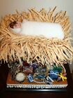 NATIVITY BABY JESUS In The Manger with Gifts Below Hand Crafted in Spain
