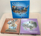 Bits And Pieces Shaped Jigsaw Puzzle 3 Piece Lot Native American Indian Theme