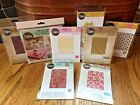 SIZZIX Textured Impressions Asst Embossing Folders Paper Leather sheets Walton