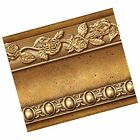 Flower Molding Peel and Stick Wall Border Easy to Apply Gold Brown Gold Brown