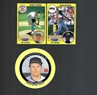 1991 STARTING LINEUP 2 CARD PANEL ROGER CLEMENS /KEVIN MITCHELL + CADACO ROGER