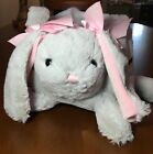 Plush Bunny Easter Basket Cottontail Lane Soft and Adorable Padded Lined NEW