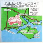 ISLE OF WIGHT National Scooter Rally ORIGINAL 1985 UK backpatch Vespa Lambretta