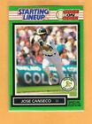 1989 Starting Line Up Card Jose Canseco One on One SLU Oakland A's