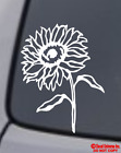 SUNFLOWER Vinyl Decal Sticker Car Window Wall Bumper Pretty Helianthus Flower