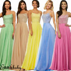 Women Bridesmaid Wedding Long Dress Evening Cocktail Party Prom Gown Full Dress