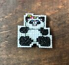 Handmade Cross Stitch Christmas Kitchen Magnet-Panda Bear-Home Decor-Completed