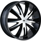 20x85 Black Mazzi Edge Wheels 5x112 5x120 +35 Fits Acura ZDX MDX RLX
