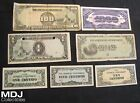 Lot of 7 Japanese Government Notes 1 Centavo 5 10 2x 1 Peso 100 Pesos1000