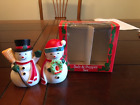 Snowman Salt and Peppers Shakers 1990