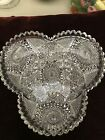 American Brilliant Cut Glass Heart Shaped Bowl NEW Lower Price