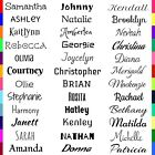 Custom Personalized Name Vinyl Decal Sticker For Wall Window Car Decor
